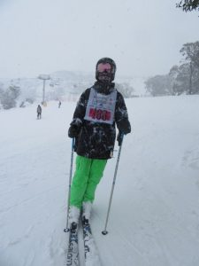 Mason Grunsell hitting the slopes at Perisher.